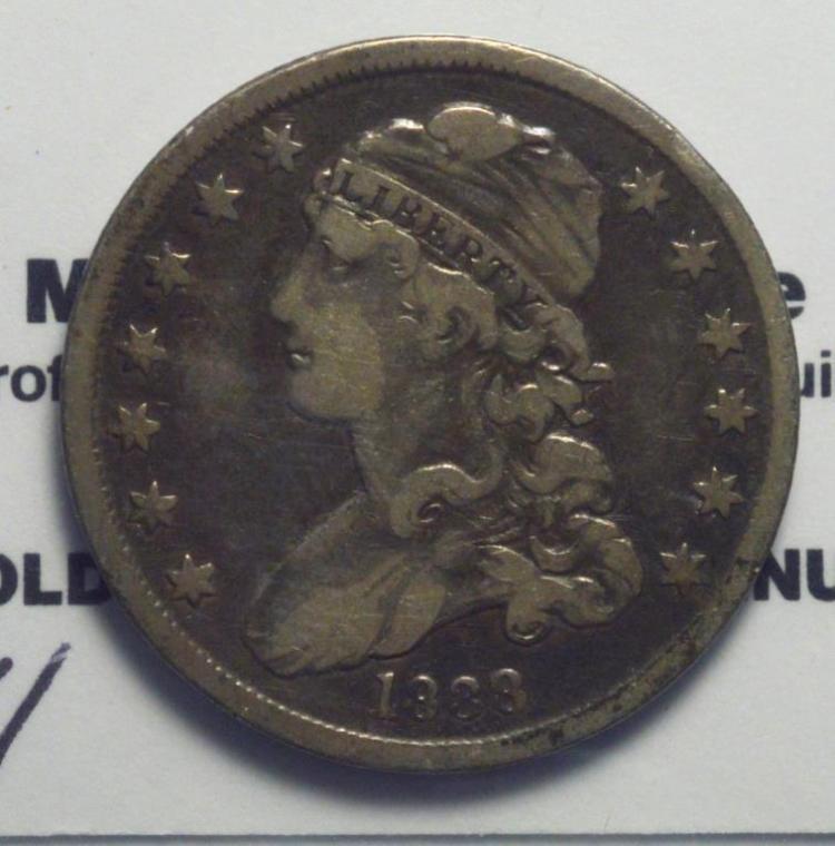 1838 Capped Bust Quarter Dollar VG