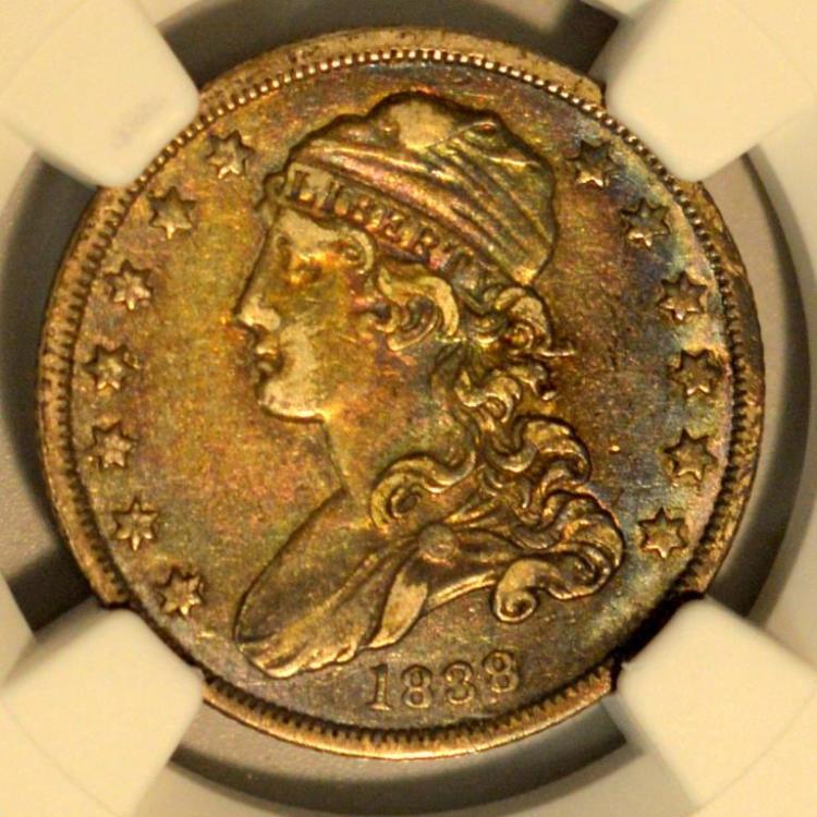 1838 B-1 Capped Bust Quarter Dollar NGC XF 40