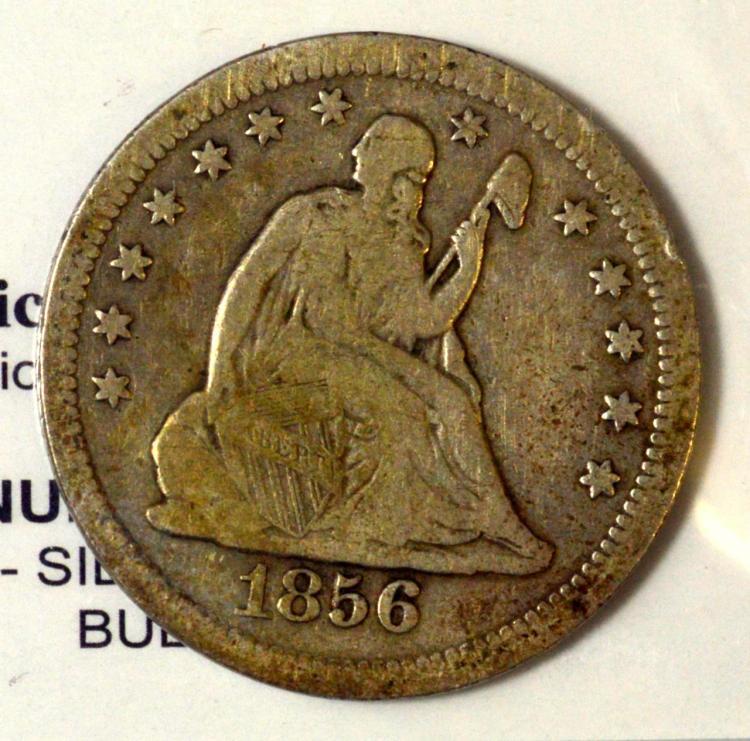 1856-O Liberty Seated Quarter Dollar Fine