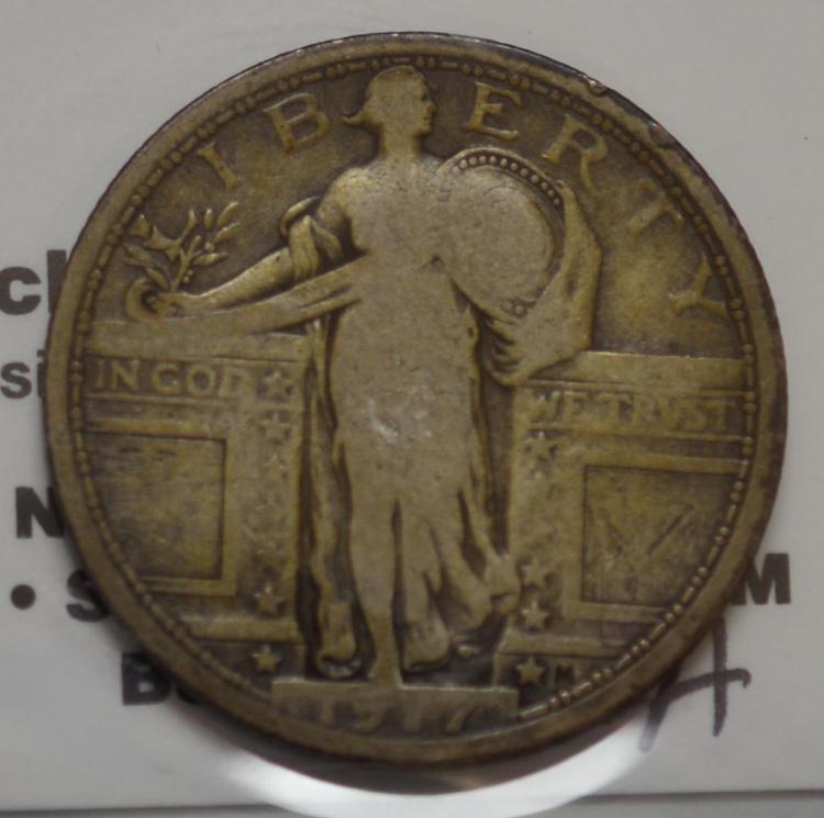 1917 Standing Liberty Quarter Dollar VG