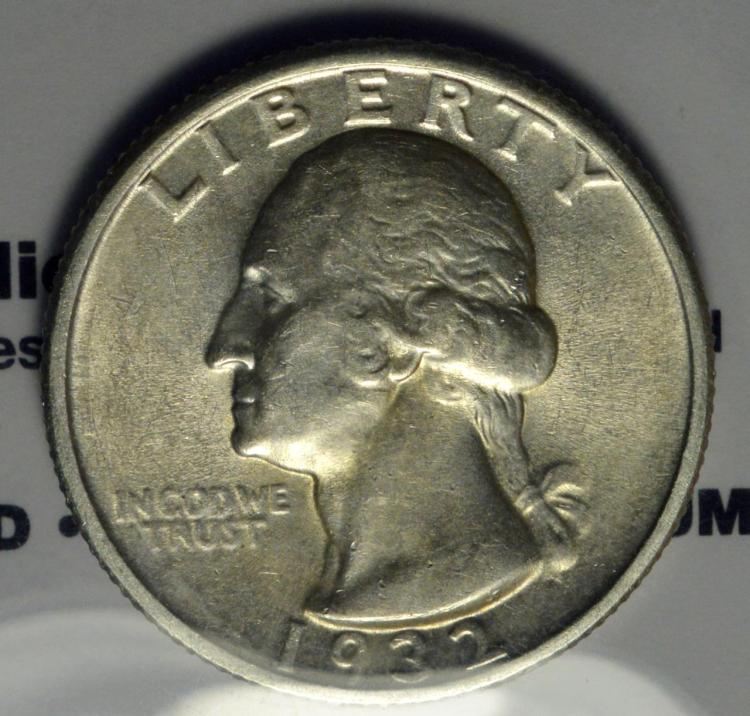 1932 Washington Quarter Dollar AU