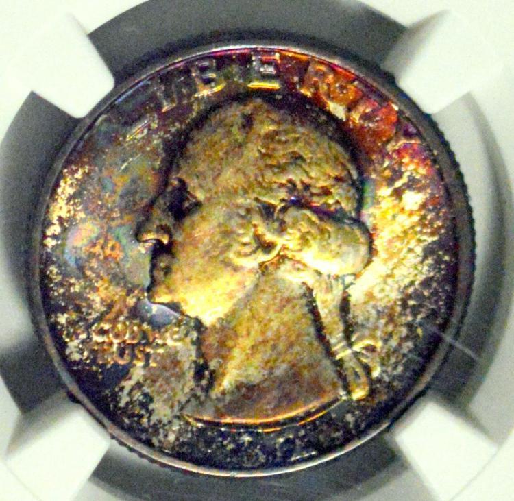 1932 Washington Quarter Dollar NGC UNC Details E/D