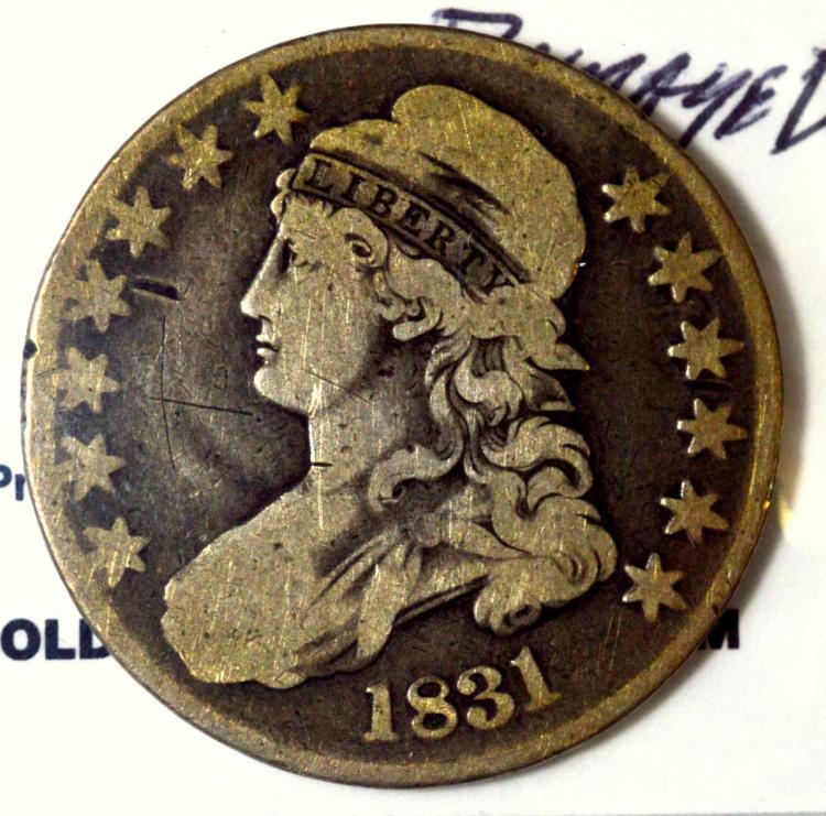 1831 Capped Bust Half Dollar Good Damage