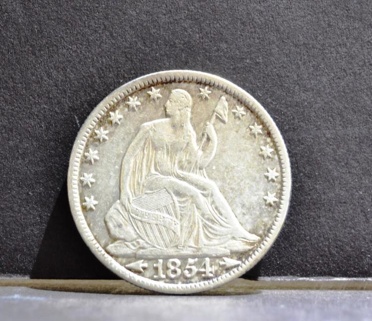 1854-O Arrows Liberty Seated Half Dollar VF