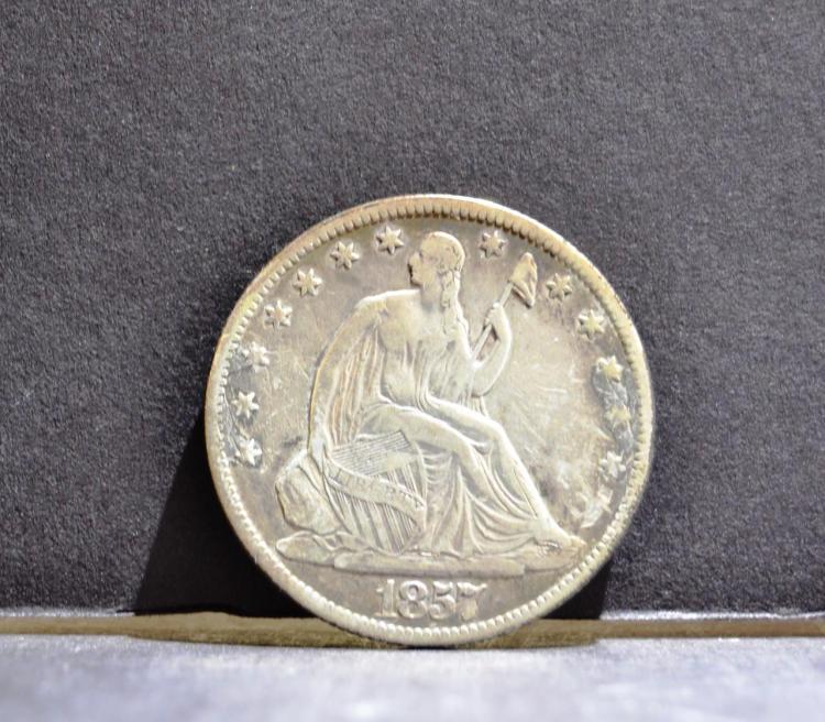 1857-O Liberty Seated Half Dollar Fine+