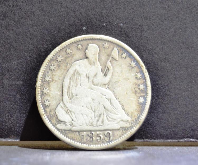 1858-O Liberty Seated Half Dollar VG