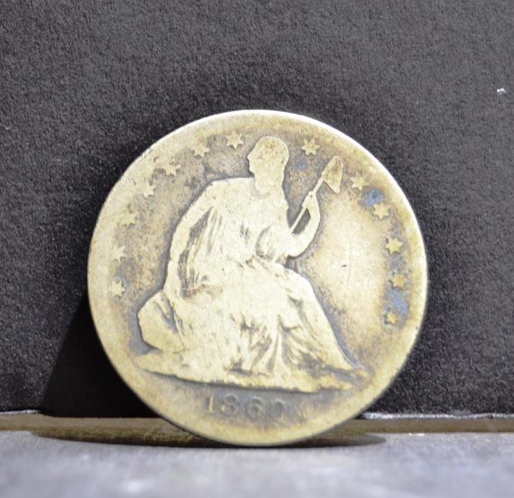 1860 Liberty Seated Half Dollar AG