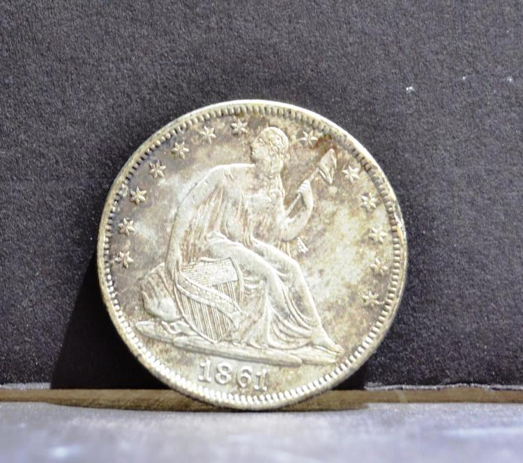 1861 Liberty Seated Half Dollar Original BU