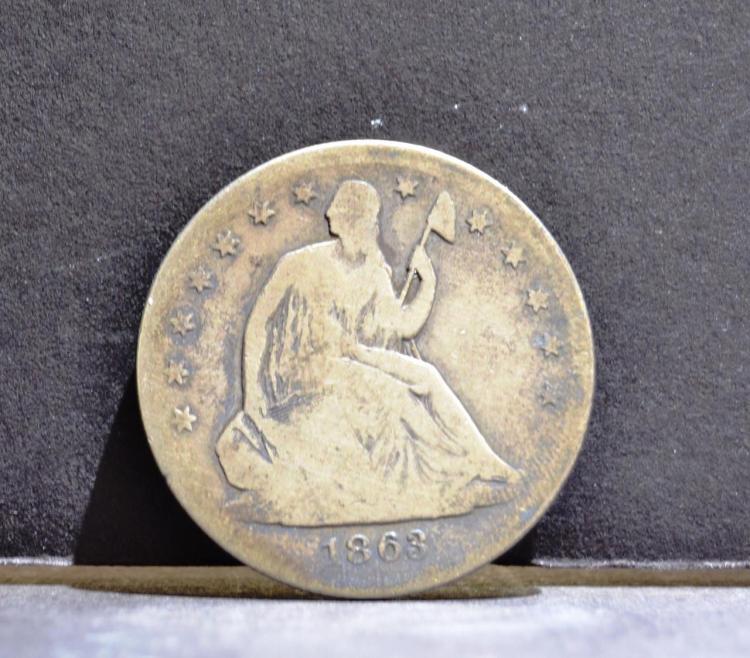 1863-S Liberty Seated Half Dollar VG