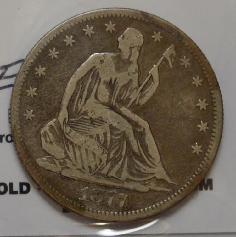 1877-S Liberty Seated Half Dollar Fine
