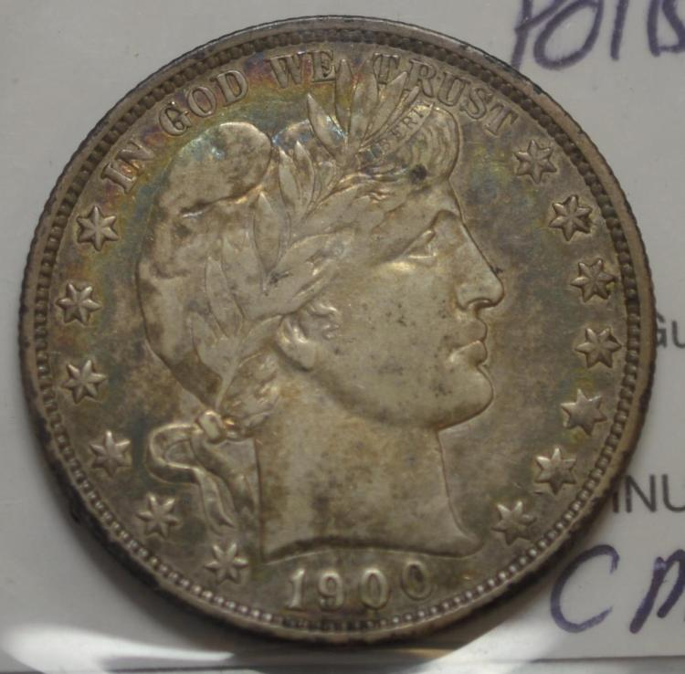 1900-O Barber Half Dollar XF+ Polished