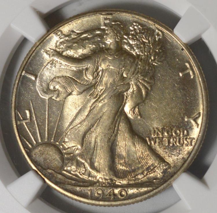 1940 Liberty Walking Half Dollar NGC AU 55