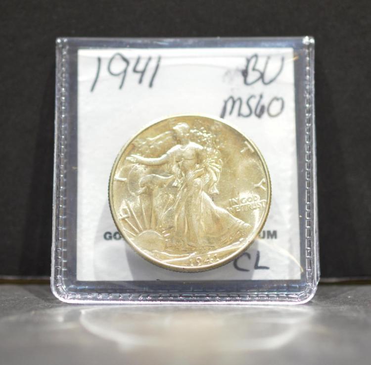 1941 Liberty Walking Half Dollar MS 60