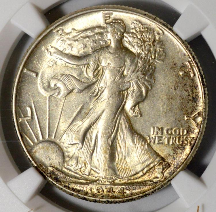 1944 Liberty Walking Half Dollar NGC AU 58