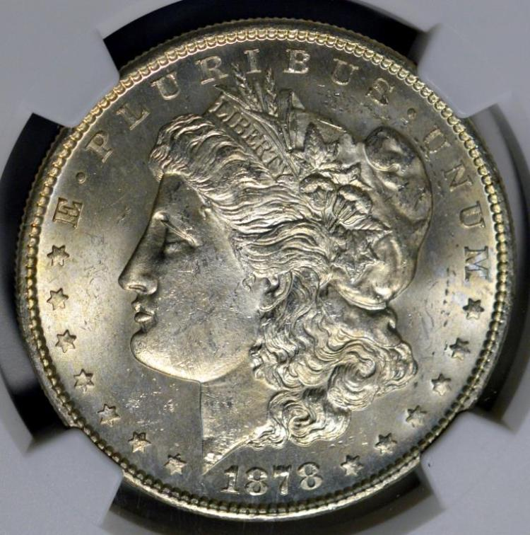 1878-S Morgan Silver Dollar NGC MS 63