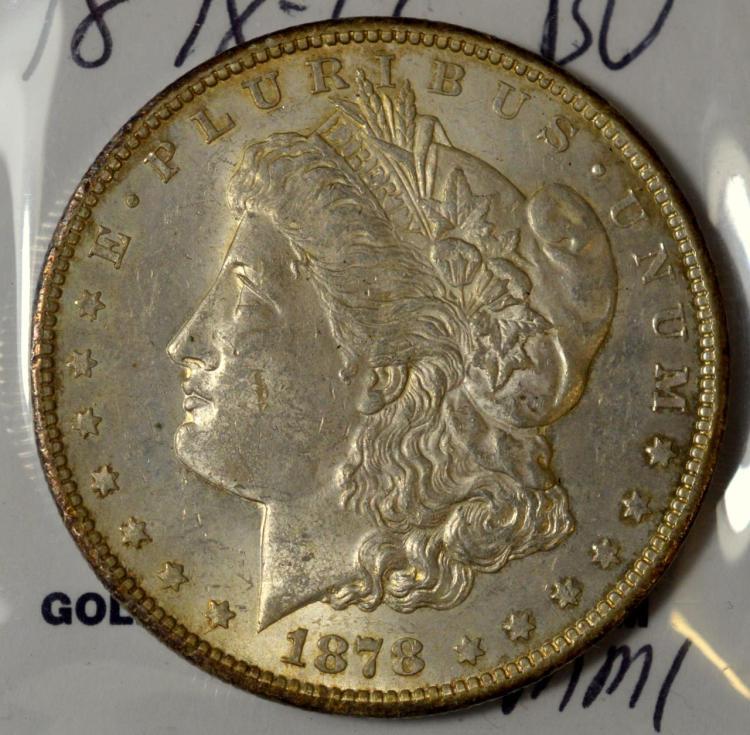 1878-CC Morgan Silver Dollar BU