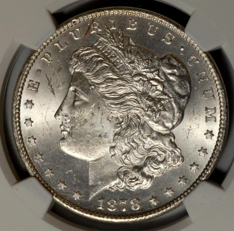 1878-CC Morgan Silver Dollar NGC MS 63