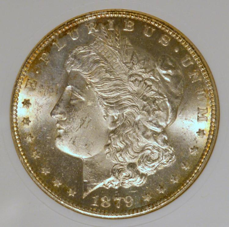 1879-S VAM-18 Morgan Silver Dollar ANACS MS 63
