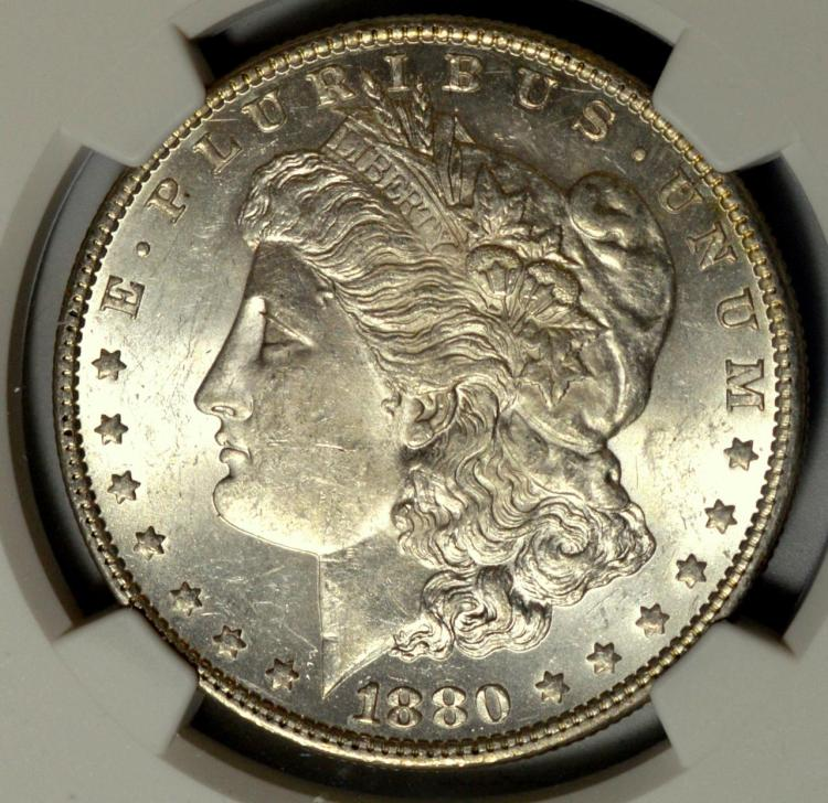 1880-O Morgan Silver Dollar NGC MS 61