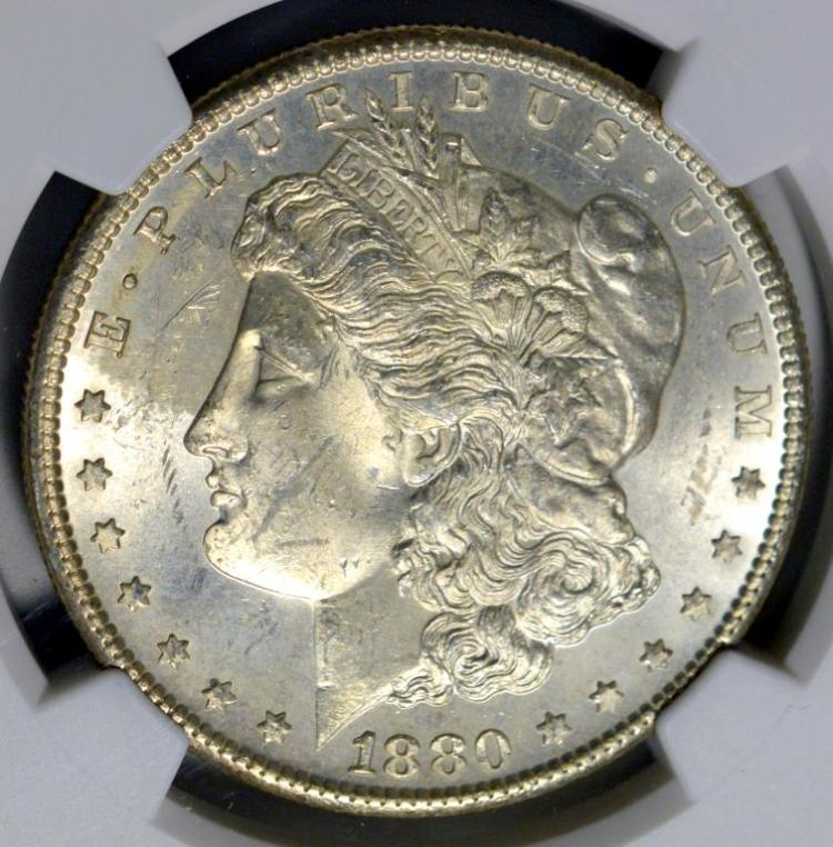 1880-S Morgan Silver Dollar NGC MS 63