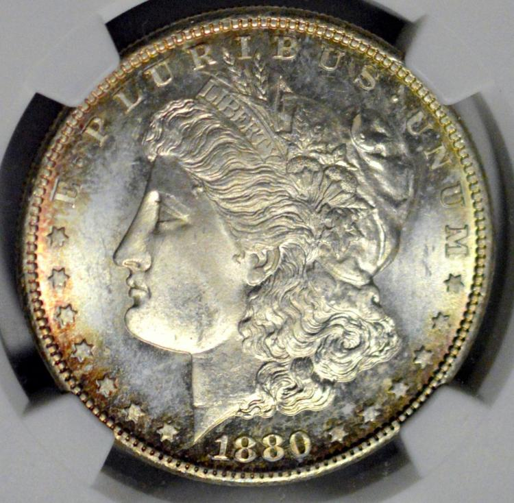 1880-S Morgan Silver Dollar NGC MS 64
