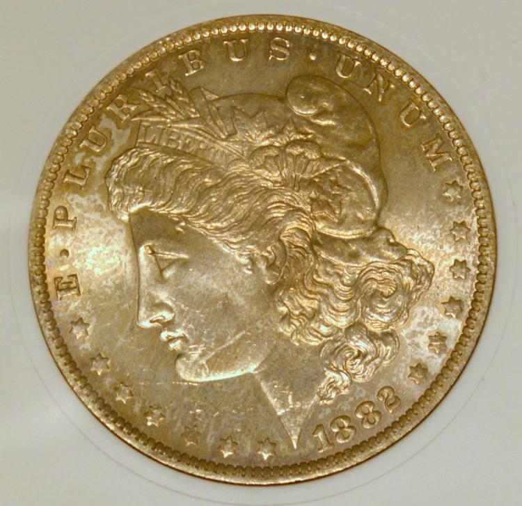 1882-O VAM-24 Morgan Silver Dollar ANACS MS 63