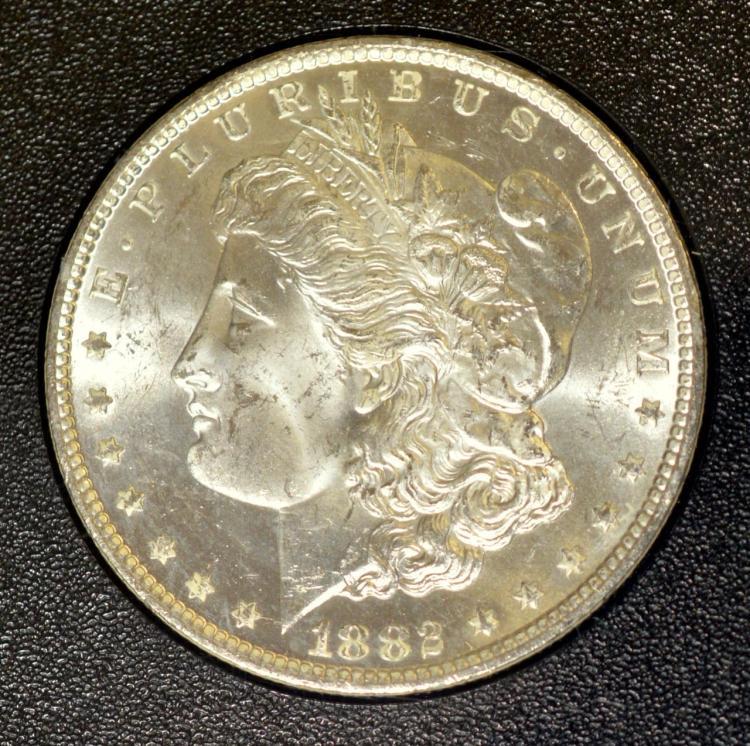 1882-CC Morgan Silver Dollar GSA Hoard NGC MS 63