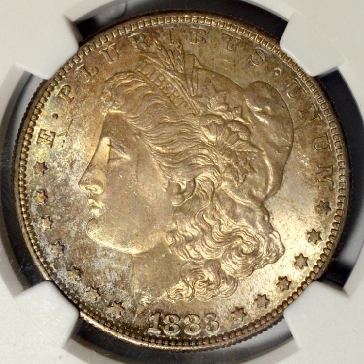 1883-S Morgan Silver Dollar NGC MS 64 with Toning