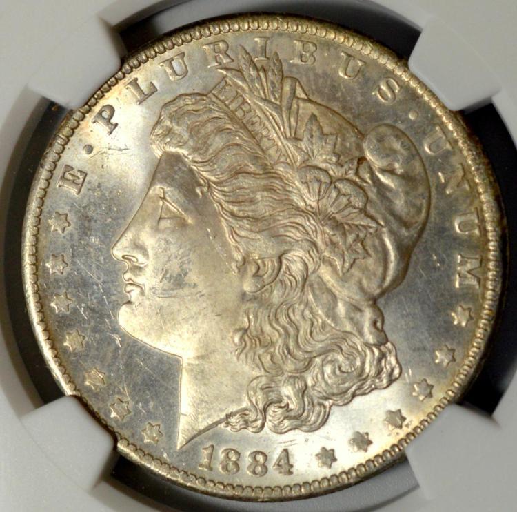1884-O Morgan Silver Dollar NGC MS 63