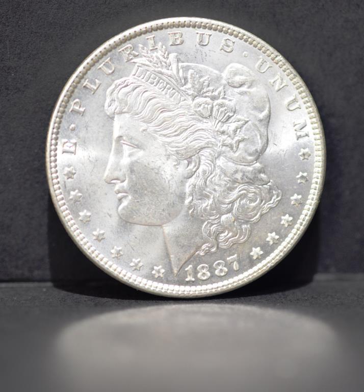 1887 Morgan Silver Dollar BU-63