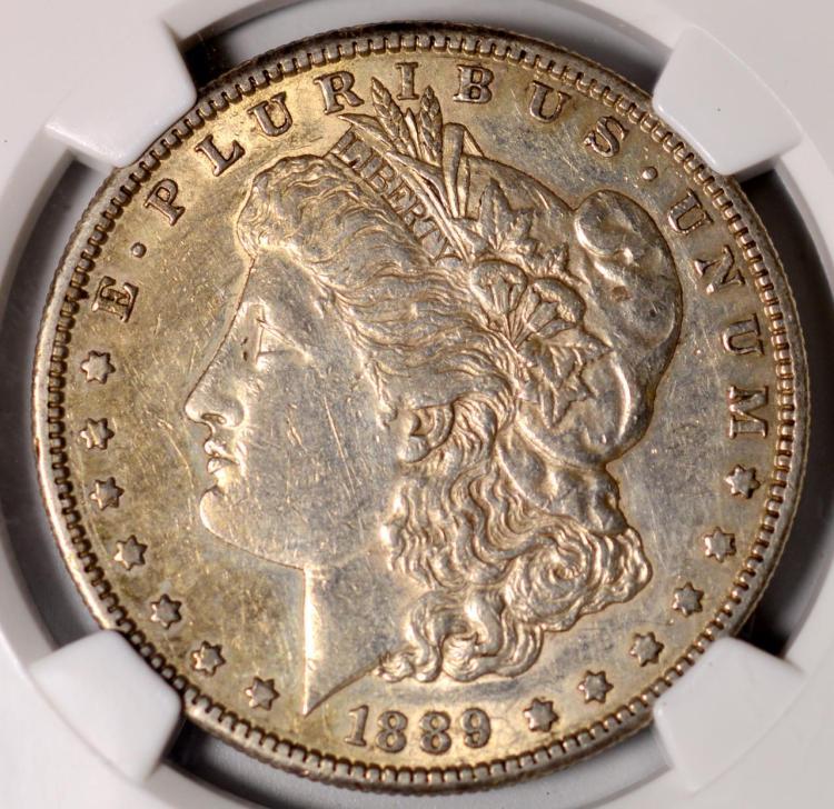 1889-S Morgan Silver Dollar NGC XF 45