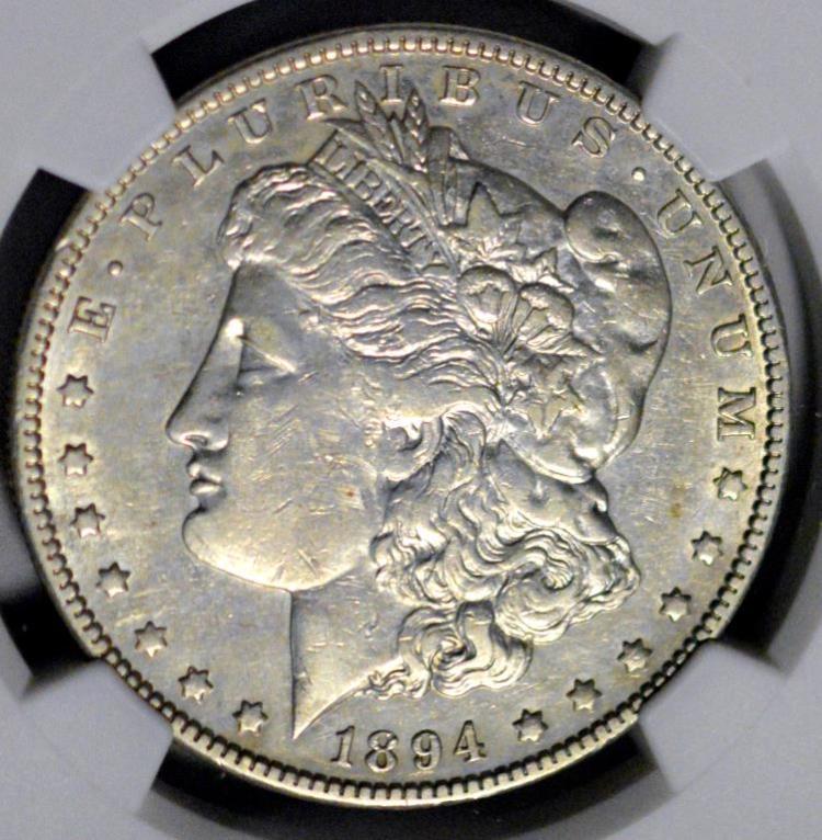 1894-O Morgan Silver Dollar NGC VF Details I/C