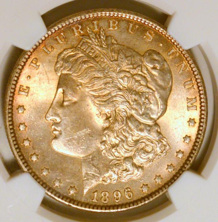 1896 Morgan Silver Dollar NGC MS 63