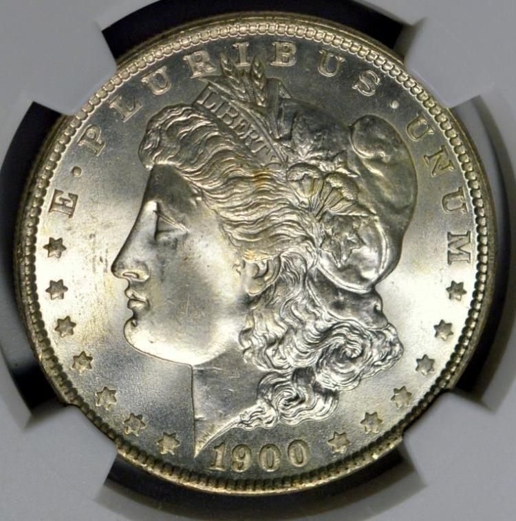 1900-O Morgan Silver Dollar NGC MS 65