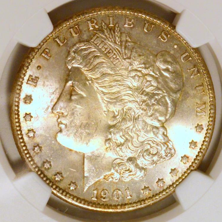 1901-O Morgan Silver Dollar NGC MS 63