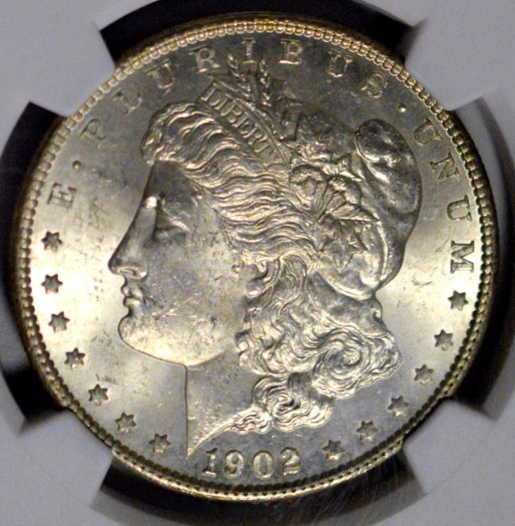 1902-O Morgan Silver Dollar NGC MS 63
