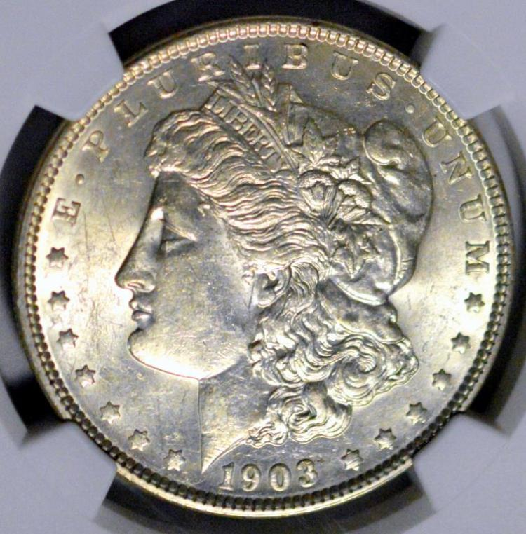 1903 Morgan Silver Dollar NGC AU 58