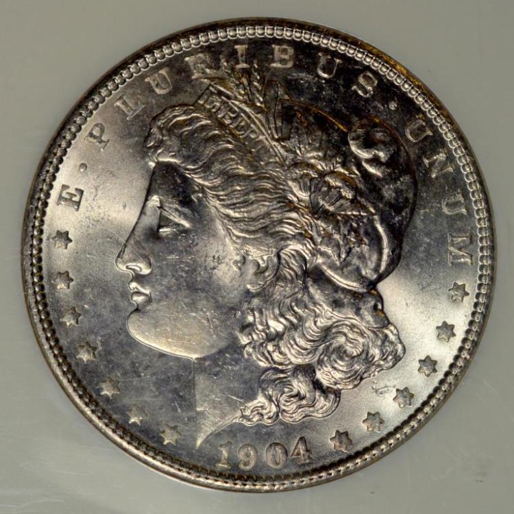 1904 Morgan Silver Dollar NGC MS 63