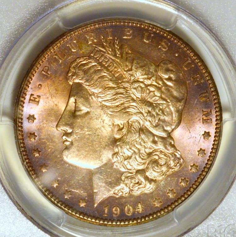 1904-O Morgan Silver Dollar PCGS MS 62