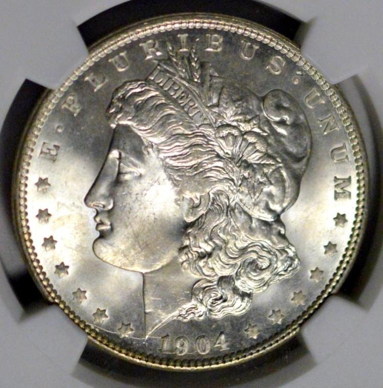 1904-O Morgan Silver Dollar NGC MS 64