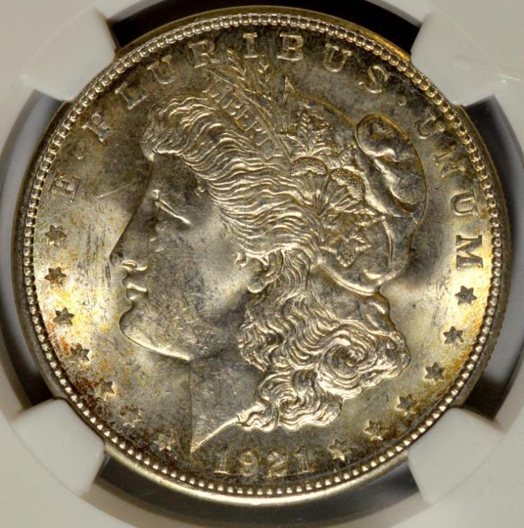 1921-D Morgan Silver Dollar NGC MS 63