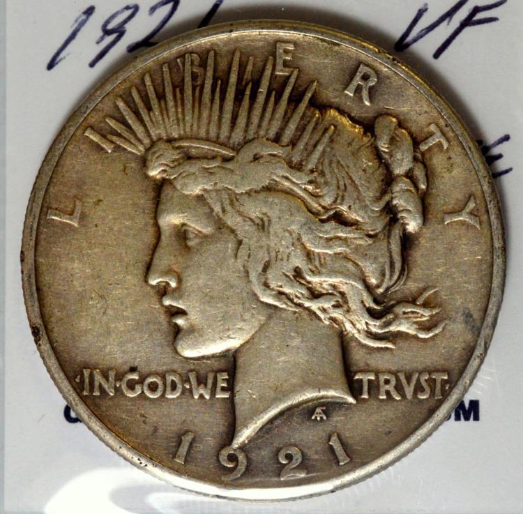 1921 Peace Silver Dollar VF