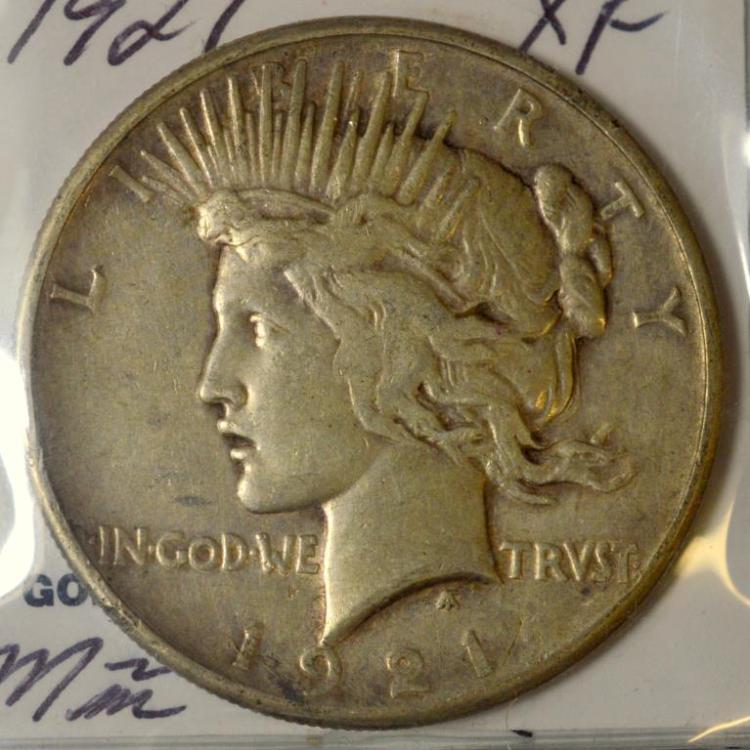 1921 Peace Silver Dollar XF