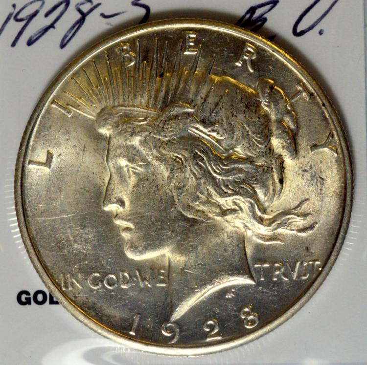 1928-S Peace Silver Dollar BU
