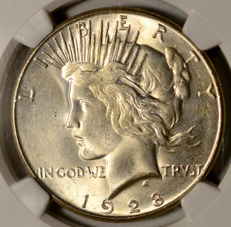 1928-S Peace Silver Dollar NGC MS 64