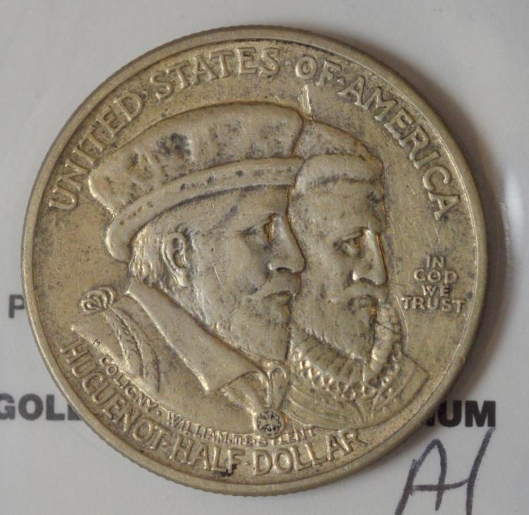 1924 Huguenot Half Dollar AU 50