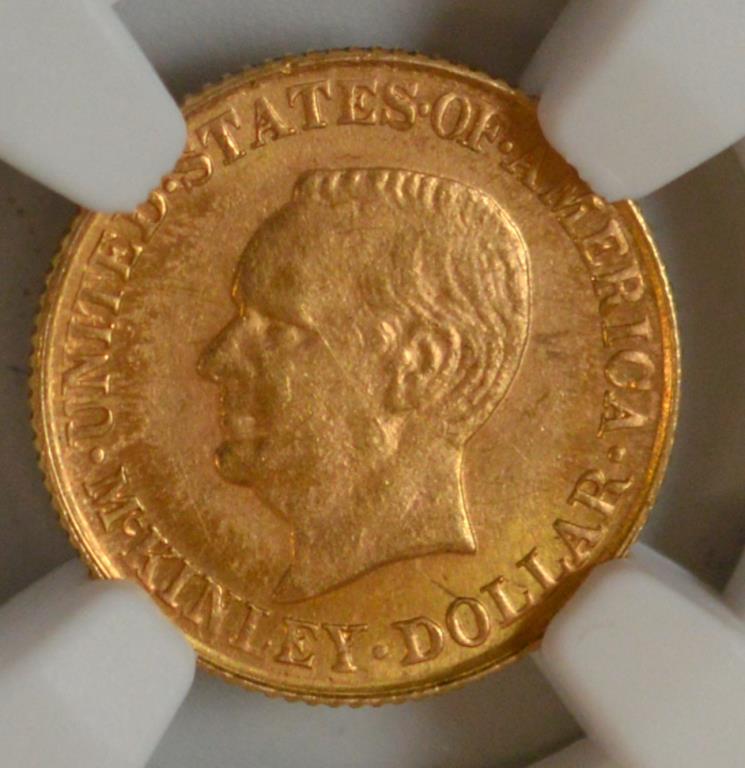 1916 $1 Mckinley Memorial Gold Dollar NGC MS 63