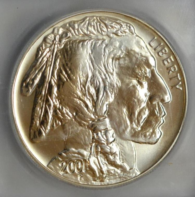 2001-D American Silver Buffalo Dollar ICG MS 69