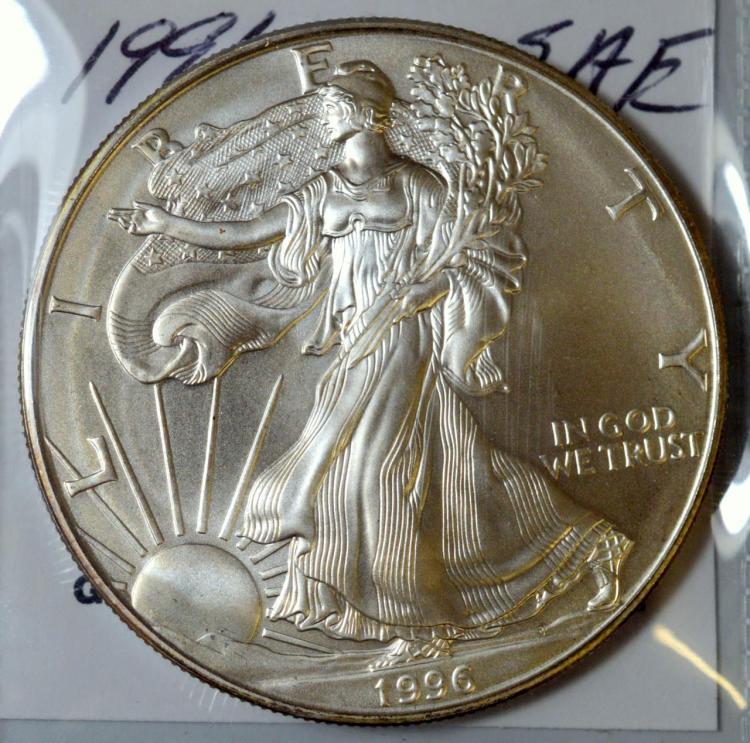 1996 American Silver Eagle BU