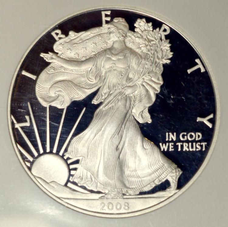 2008-W American Silver Eagle Dollar NGC PF70 UC